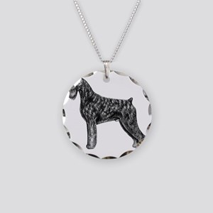 Giant Schnauzer Uncropped St Necklace Circle Charm