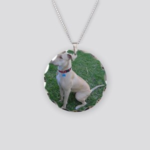 Pit Bull Necklace Circle Charm