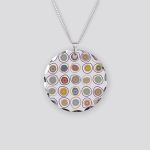 circles Necklace Circle Charm