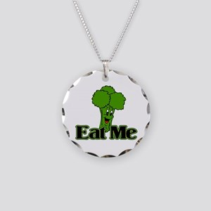 Eat Me Necklace Circle Charm