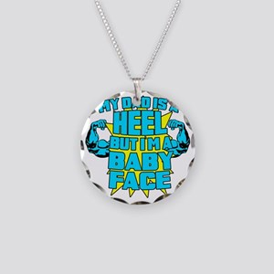 My Dad is a Heel Blue Necklace Circle Charm