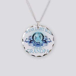 I Wear Light Blue for my Gra Necklace Circle Charm