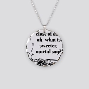 pipesmoker7_black_print Necklace Circle Charm