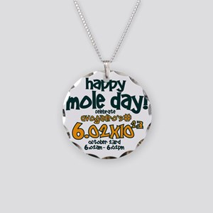 happy mole day Necklace Circle Charm