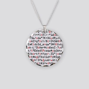 Geek Strong Password. Necklace Circle Charm