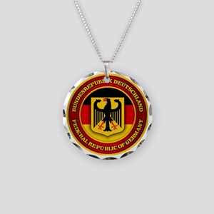 German Emblem Necklace Circle Charm