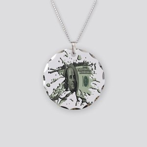 100Blot Necklace Circle Charm