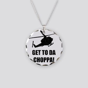 Get To The Choppa Necklace Circle Charm
