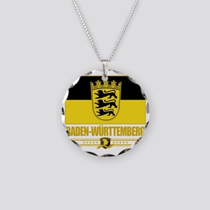 Baden-Wurttemberg (Flag 10) Necklace Circle Charm