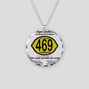 DTM Lemons back clear Necklace Circle Charm