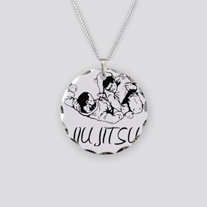 jiujitsu Necklace Circle Charm