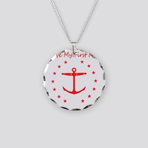 I Love my First Mate Necklace Circle Charm