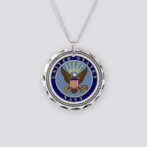 Navy-Logo-9 Necklace Circle Charm