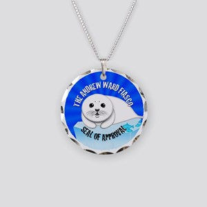 AWF Seal Necklace Circle Charm