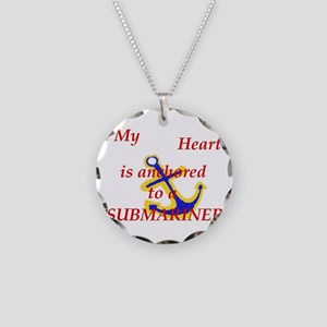 Heart anchored Necklace Circle Charm