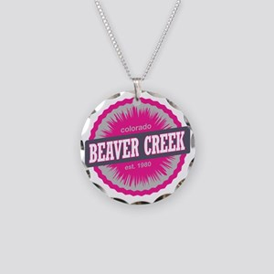 Beaver Creek Ski Resort Colo Necklace Circle Charm