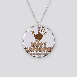 Happy Slapsgiving! Necklace Circle Charm