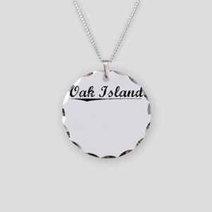 Oak Island, Vintage Necklace Circle Charm