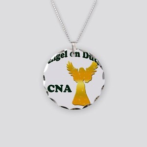 Angel on duty cna copy Necklace Circle Charm