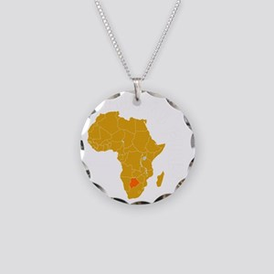 botswana1 Necklace Circle Charm