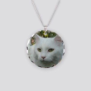 maine coon fourth white Necklace