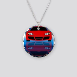 Fast Car Front End Necklace Circle Charm