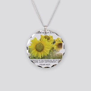 sunflower200dpi Necklace Circle Charm