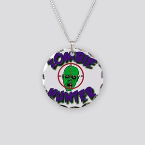 Zombie Hunter #1 Necklace Circle Charm