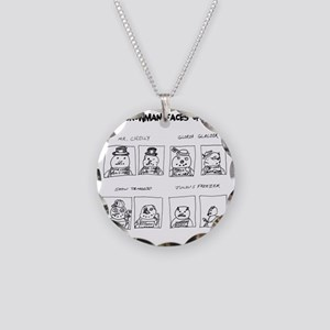 Snowman Meth Makeover Necklace Circle Charm