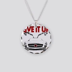 SLS AMG Supercar LIVE IT UP Necklace Circle Charm