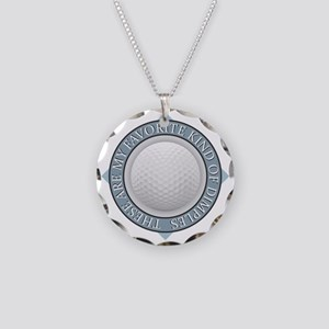 Golf - My Favorite Kind of D Necklace Circle Charm