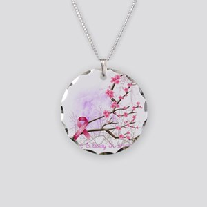 cherryblossom-dark Necklace Circle Charm