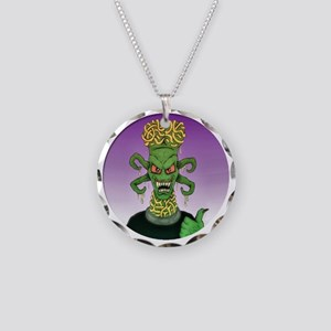 B Movie Alien Necklace Circle Charm