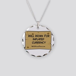 Will Work Inflation 2 Necklace Circle Charm