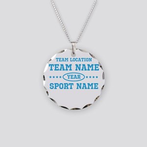 Sports Team Personalized Necklace Circle Charm
