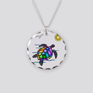 Sea Turtle #1 Necklace Circle Charm