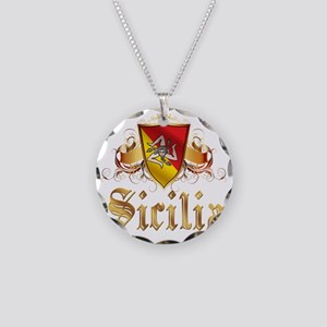 sicilia Necklace Circle Charm