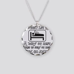 Newtons law of motion - body Necklace Circle Charm