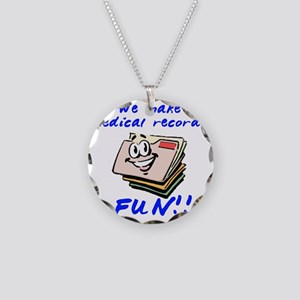 MedicalRecords Necklace Circle Charm