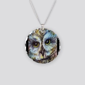 Owl, beautiful, Necklace Circle Charm