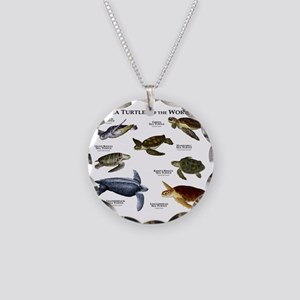 Sea Turtles of the World Necklace Circle Charm