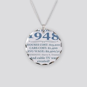Birthday Facts-1948 Necklace Circle Charm