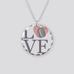 navylove Necklace Circle Charm