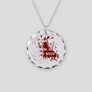 attention wh Necklace Circle Charm