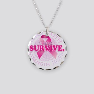 iwillsurvive Necklace Circle Charm