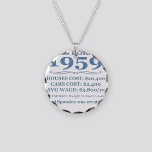 Birthday Facts-1959 Necklace Circle Charm