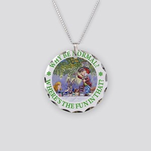 ALICE WHY BE NORMAL_green co Necklace Circle Charm