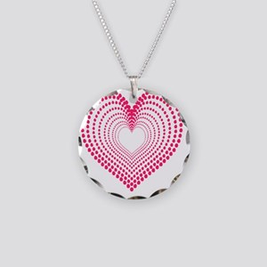 hearts 3TD Necklace Circle Charm