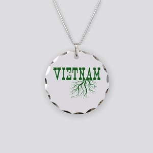 Vietnam Roots Necklace Circle Charm