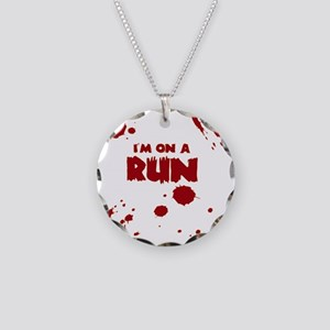 I'm on a run Necklace Circle Charm